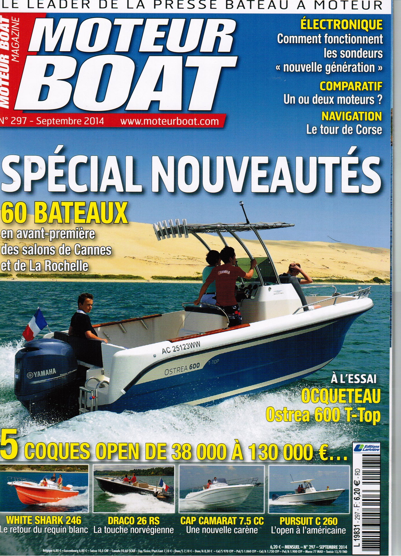 French Moteur Boat Magazine has tested new OSTREA 600 T-Top