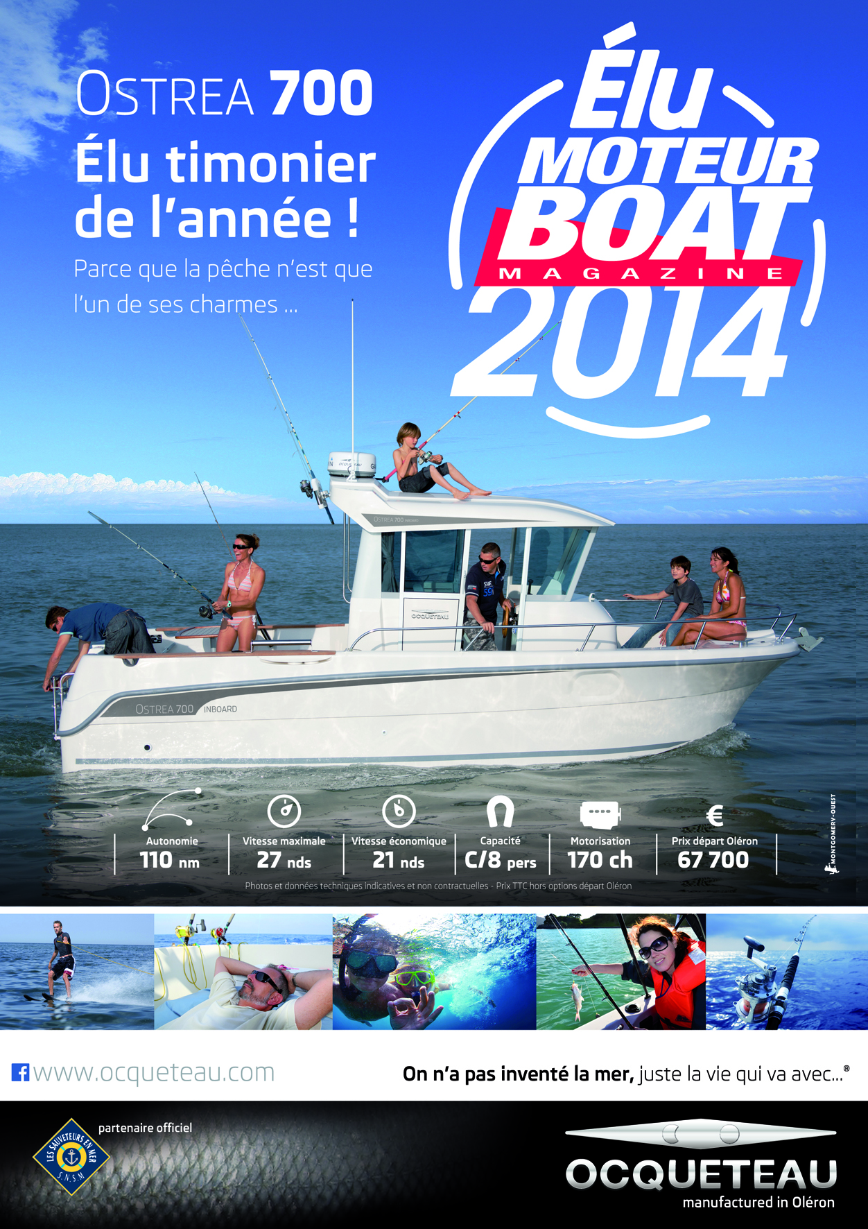OSTREA 700 awarded boat of the year by Moteur Boat